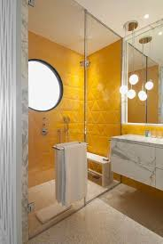 yellow tile bathroom ideas gray room tiled blue remodel black tub walls pictures co