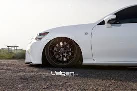 lexus g350 sport lexus gs350 f sport bagged velgen wheels vmb6 satin black