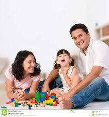 happy family with blocks royalty free stock photo image