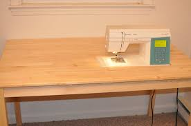 how to make a drop in sewing table blue dinosaurs blog i m back diy sewing table