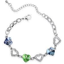 silver crystal heart bracelet images Cheap swarovski heart bracelet find swarovski heart bracelet jpg