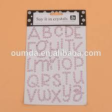 rhinestone letter stickers rhinestone letters stickers rhinestone letters stickers suppliers