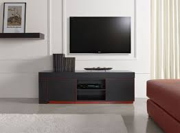 furniture modern small black media cabinet with door and two