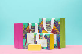 shopping bags with a gift box psd mockup on behance