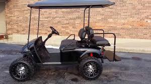 lifted black gas ezgo golf cart 14