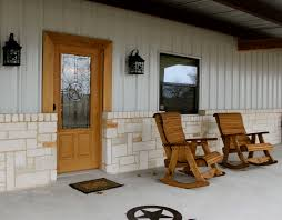 exterior design exciting barndominium floor plans for inspiring exciting barndominium floor plans with comfortable rocking chairs and wall lantern plus halquist stone