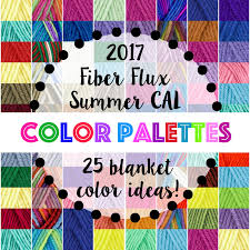 fiber flux summer cal color inspiration 25 color palette ideas