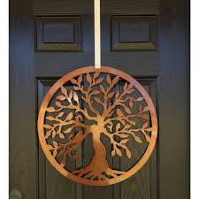 tree of with birds house sensations metal