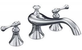 kohler revival kitchen faucet kohler k t16119 4a cp revival two handle tub faucet trim kit