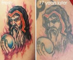 shocking before and after photos how tattoos can fade and
