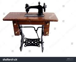 Desk Pedal Miniature Old Sewing Machine Foot Pedal Stock Photo 584187