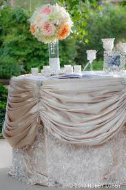 Pleated Table Covers Fushia Pink Wedding Cake Table Coulda Had A Better Table