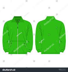 Light Green Color by Light Green Color Fleece Outdoor Jacket Stock Vector 498780940