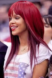 Frisuren Lange Haare Rot by Rihanna Medium Perücken Haar Und Gerade Pony Mit Rot Haare