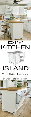plans to build a kitchen island diy kitchen island with trash storage and free downloadable build