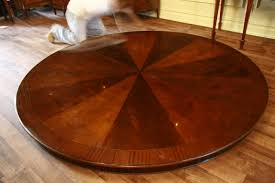 large round dining table with revolving center dining table
