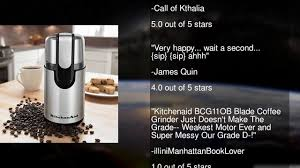 Coffee Blade Grinder Kitchenaid Bcg111ob Blade Coffee Grinder Onyx Black Youtube