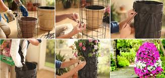 how to make a flower tower space saving decoration for garden and