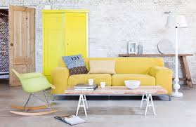 Modern Yellow Sofa Artistic Living Room Design With Modern Bright Yellow Sofa Hupehome