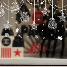Christmas Window Decorations by Christmas Decorations Hanging Balls Shinning Stars Snowflakes And