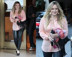 equipment signature blouse hilary duff just peachy in equipment slim signature blouse