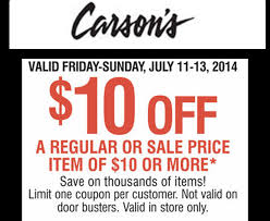 carsons black friday sale 10 off 10 purchase coupon at carson u0027s