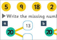 number bonds to 20 maths worksheet free early years u0026 primary