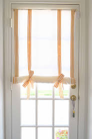 elegant no sew roll up diy linen window shade once again my