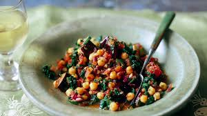 cuisine aubergine spinach aubergine and chickpea curry recipe food