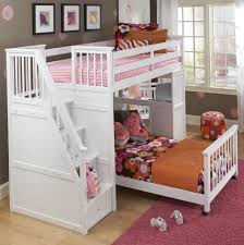 loft bunk beds with stairs and desk home design ideas