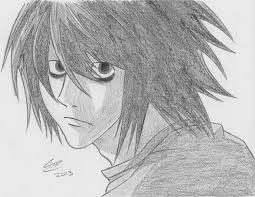death note l drawing by the avaricious on deviantart