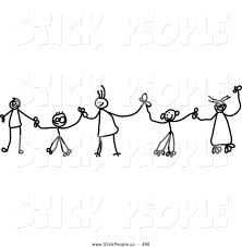 vector graphic of a child u0027s sketch of a family of black and white