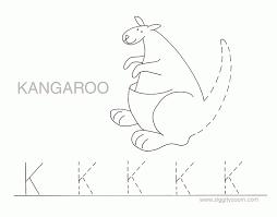 letter k alphabet tracing worksheets