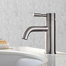 Faucet Sink Bathroom Vccucine Contemporary Single Handle Waterfall Bathroom Lavatory
