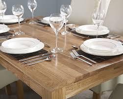 solid oak dining table butchers block table top design 90cm