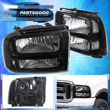 ford courier with lexus v8 for sale for 05 07 ford f250 f350 super duty black housing headlights clear