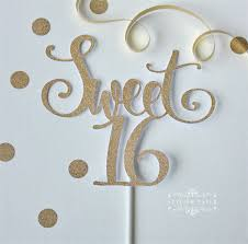 sweet 16 cake topper sweet 16 gold cake topper sixteen gold glitter cake topper