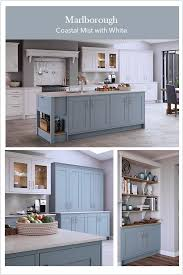 light blue kitchen cupboard doors light blue and white shaker kitchen small kitchen