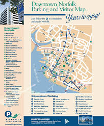 Norfolk Virginia Map by Virginia Real Estate Downtown Norfolk Parking And Visitor Map