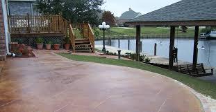 patio flooring concrete backyard decorating concept