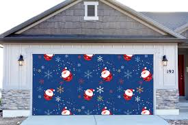 3d garage door covers christmas santa claus decorations outdoor