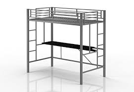 Bunk Bed Metal Frame Emily Premium Loft Bunk Bed With Desk Tiny House Style