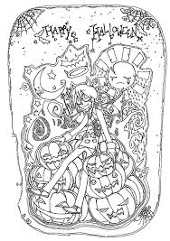 halloween free coloring halloween pages scary for adults
