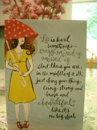 dayspring with umbrella card