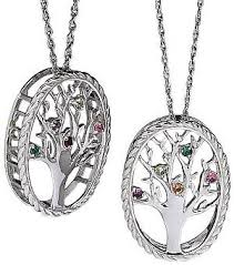 necklace with birthstones family tree birthstone necklace 36066 limoges jewelry