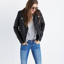 denim motorcycle jacket washed leather motorcycle jacket splurgy gifts madewell