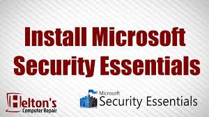 how to install microsoft security essentials xp vista 7