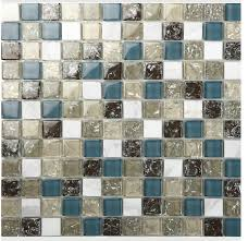 Wholesale White Stone With Crackle Crystal Mosaic Tile Sheet - Stone glass mosaic tile backsplash