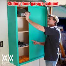 Make Sliding Cabinet Doors Make A Sliding Door Garage Or Shop Cabinet Woodworking For Mere