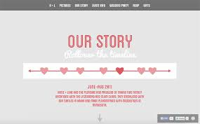wedding invitations timeline 20 beautiful wedding invitation website designs hongkiat